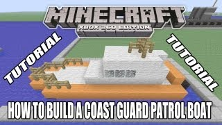 Minecraft Xbox Edition Tutorial How To Build A Coast Guard
