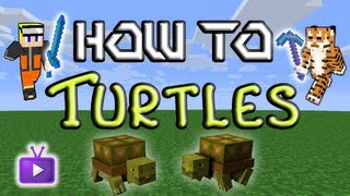 Minecraft How To: Mo' Creatures Taming Turtles