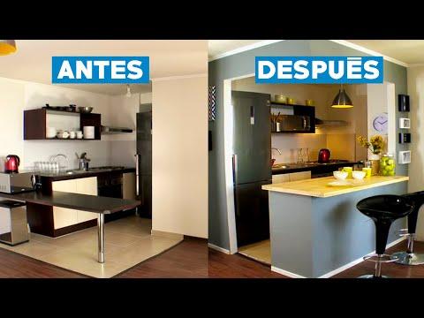 Video remodelar una cocina americana for Separacion de muebles cocina comedor