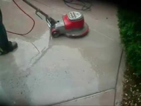 Concrete floor grinder youtube