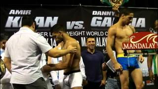 Amir Khan Vs. Danny Garcia Weigh-in Video (Exclusive