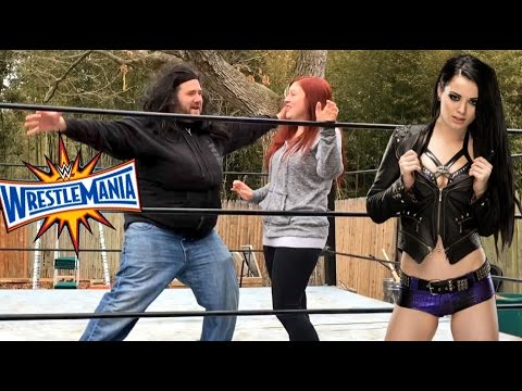 TRAINING TO WRESTLE PAIGE! GRIM TEACHES HEEL WIFE WWE MOVES TO A WWE SUPERSTAR!