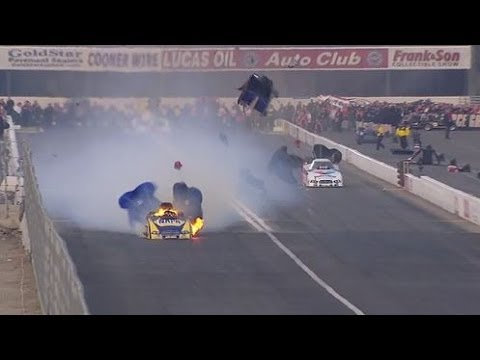 Ron Capps Engine explodes @ 2014 NHRA Pomona