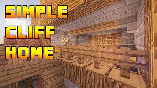 Minecraft Simple Cliff Cave House Build Tutorial HD