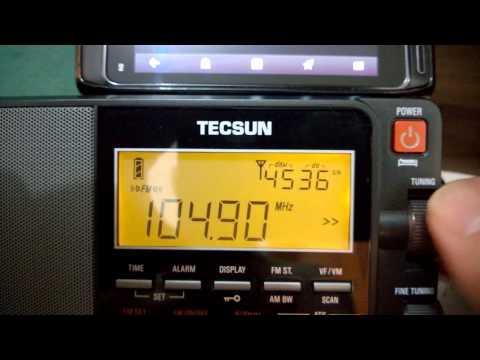 Bantú FM - Angola via N8 WiFi Radio retransmitido via FM para meu TECSUN...