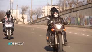 Provocare AISHOW: Business lady Olga Nisenboim pe motocicletă