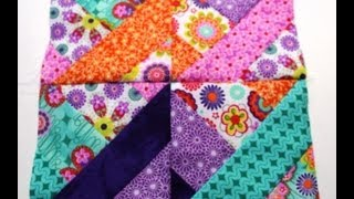 How To #Sew Quilt Squares Using Jelly RollVideo One