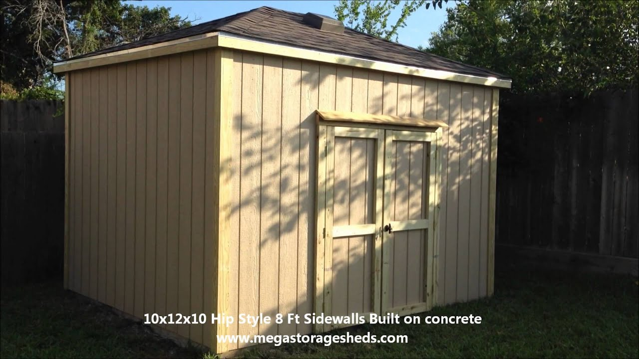 Storage sheds houston tx hip style 10x12x10 youtube for Storage 77080