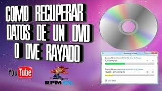 Recuperar información de un CD o DVD rayado