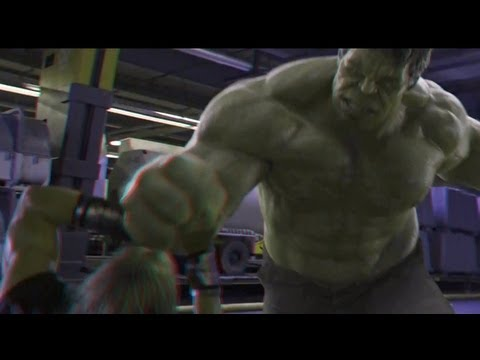 The Avengers (2012)(3D)(Side By Side) - Thor VS Hulk [Clip 6]