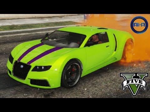 "GTA 5 - ""BUGATTI VEYRON"" - STUNTS, CUSTOMIZATION & CARS GAMEPLAY! (Grand Theft Auto V ADDER Car),"