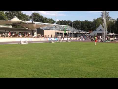 Wouter Brus 10.36sec Mannheim 15-7-2015 100m finale
