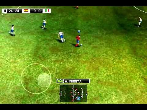 spain vs italy pes 2012 android gameplay youtube