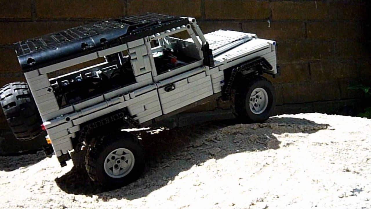 lego land rover defender 90 trailer hd youtube. Black Bedroom Furniture Sets. Home Design Ideas