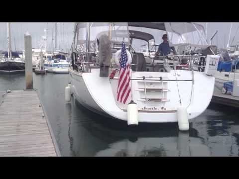 Docking a 57' Sailing Yacht singel handed By: Ian Van Tuyl at IVT Yacht Sales in California