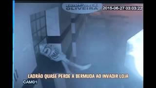 Ladr�o quase perde a bermuda ao invadir loja