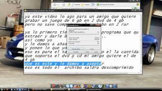 Grabar Un Juego Formato Iso De Mas De 4,7gb En 2 Dvd .mp4
