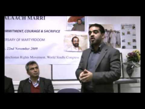 Part4 London 2nd Anniversary of Martyr Mir Balach Marri  22nd November 2009