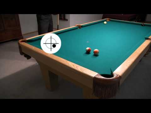 Rail Cut Shot Aiming, w/ and w/o Sidespin - from