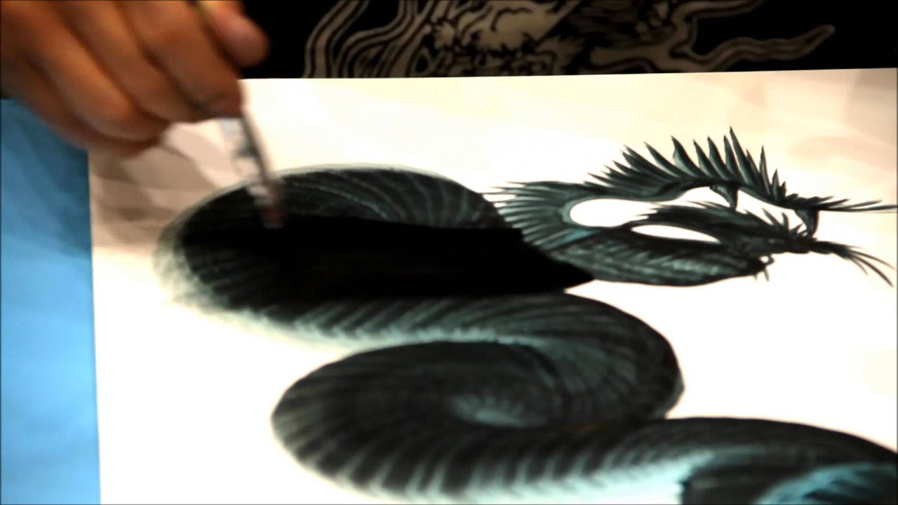 Dragon Painting Wallpaper Ancient Japanese