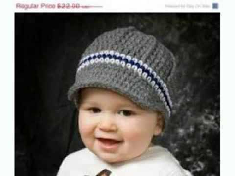 Crochet Patterns Youtube Hats : Baby Boy Crochet Hats - YouTube