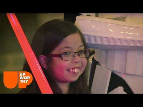 Being Darth Vader helped her step away from being in the hospital.