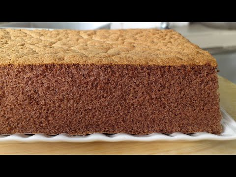 Fluffy Chocolate Sponge Cake (巧克力海綿蛋糕) **