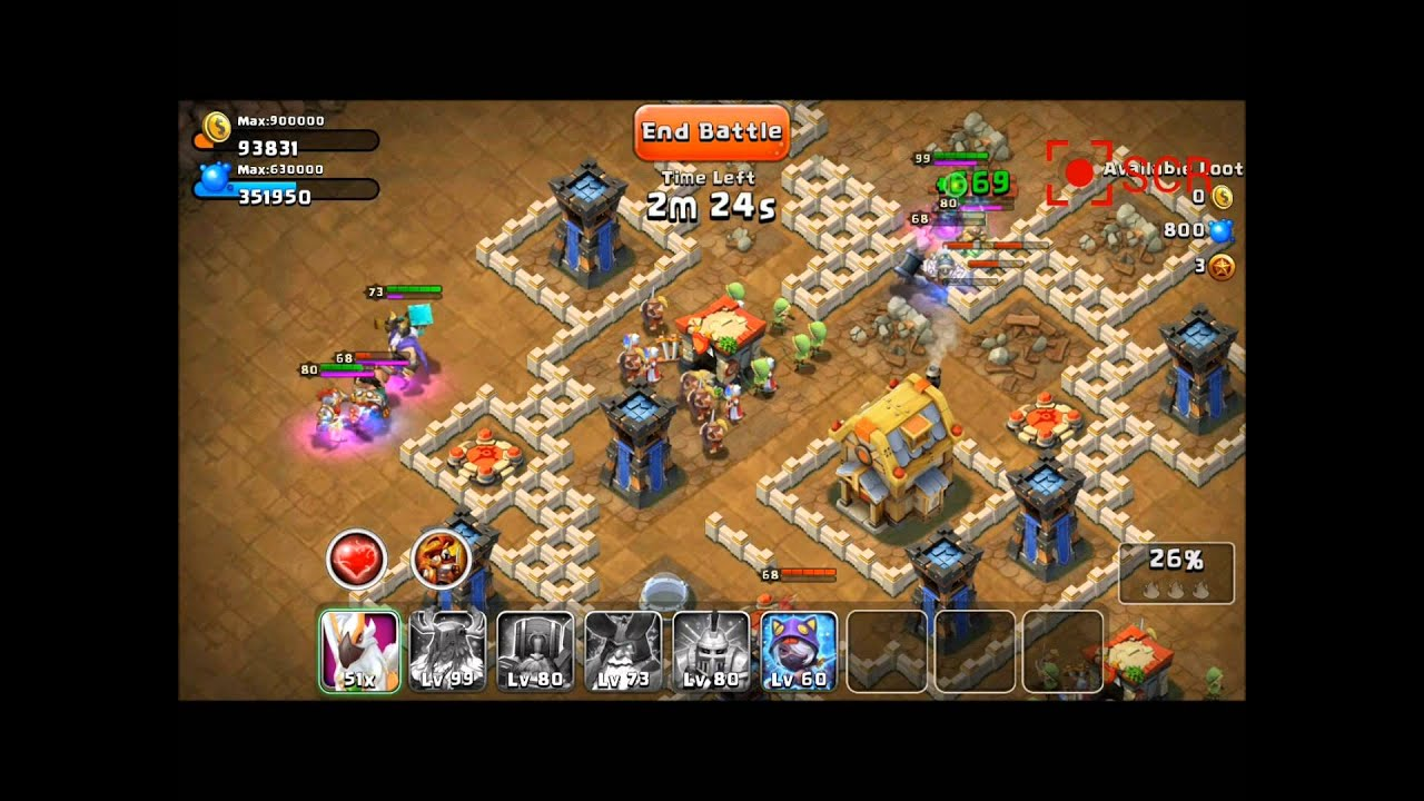 Castle clash how to farm dungeon 2 skull 2 youtube
