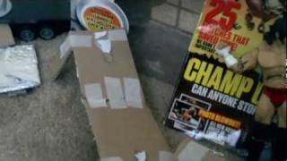 How To Make A Ladder And A Backstage For Your WWE Figures