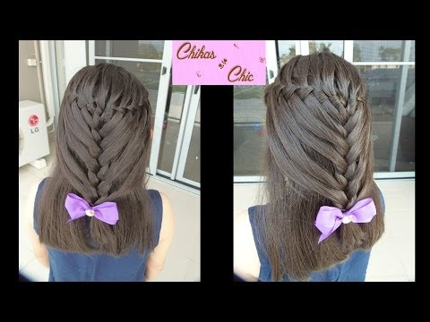 Peinado: Trenza de Cascada / Doble Trenza - Hairstyle: Waterfall Braid / Double Braid | Chikas Chic