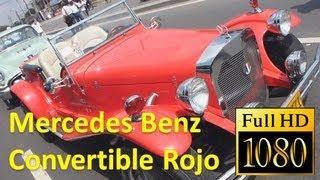 Mercedes Benz Convertible Rojo Carro Clasico Autos