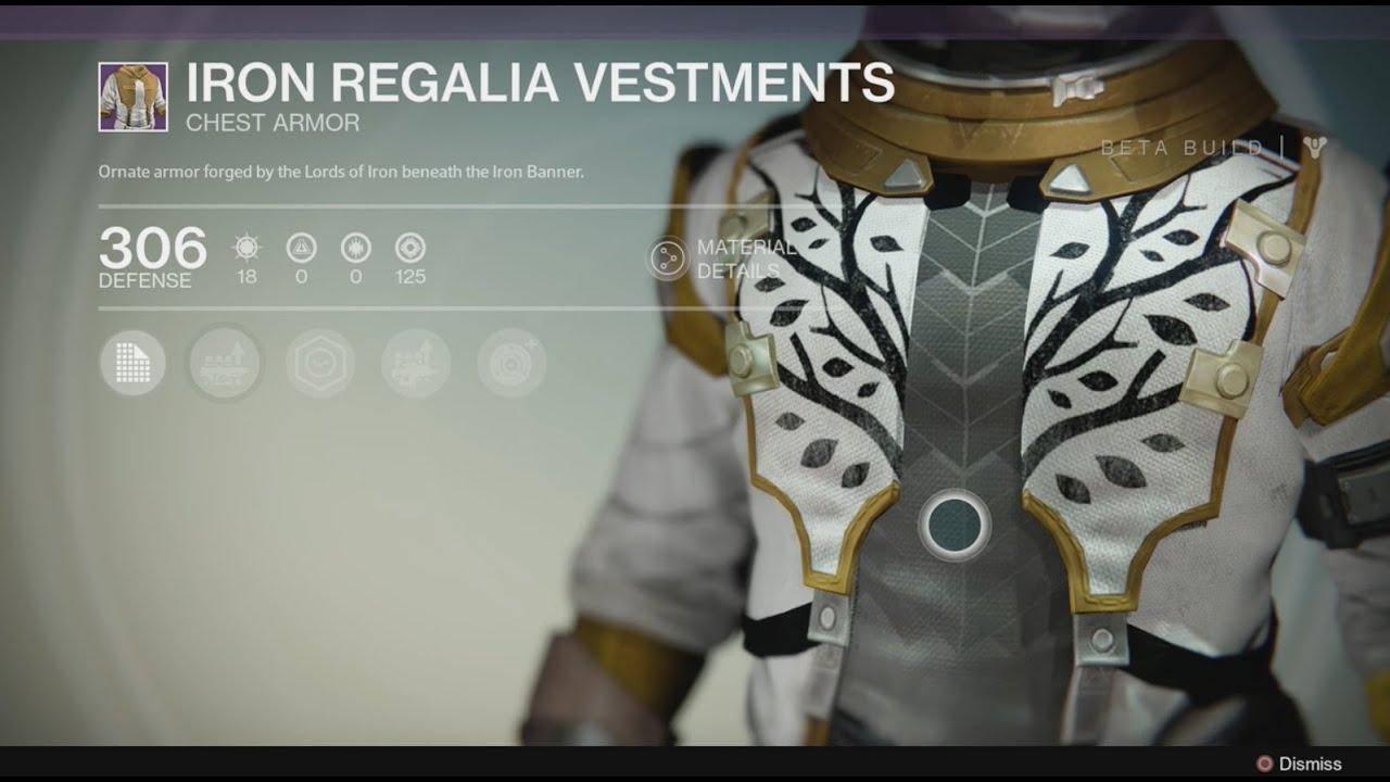 Destiny iron banner armor the speaker armor amp legendary armor
