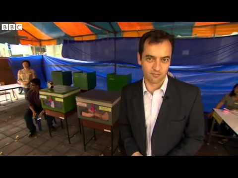 BBC News   Thailand election disrupted by protests