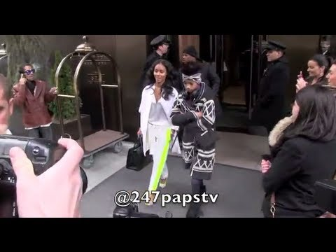 Jaden Willow Jada Pinkett Smiths leaving there hotel in NYC
