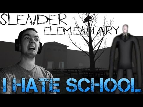 Slender Elementary - I HATE SCHOOL - Indie Horror game - Commentary/Facecam Reaction