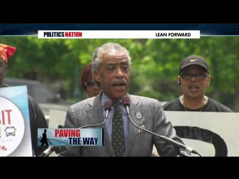 Rev. Al Sharpton on MSNBC on DC Transit Rally