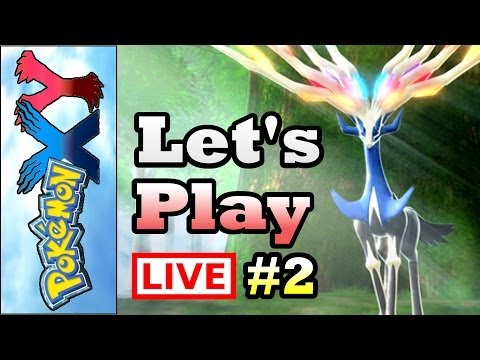 Let's Play Pokemon Again! - Pokemon X LIVESTREAM Let's Play - Part 2 (3DS Gameplay/Walkthrough)