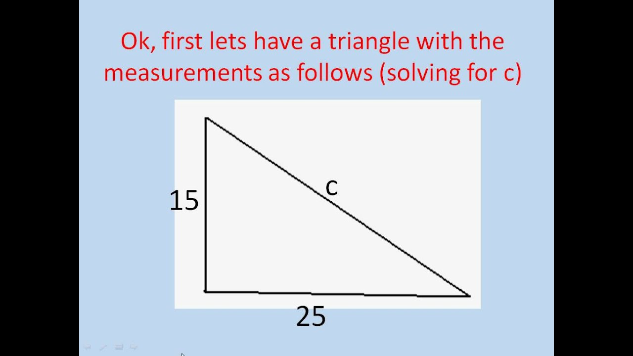 how to find the slant side of a right triangle