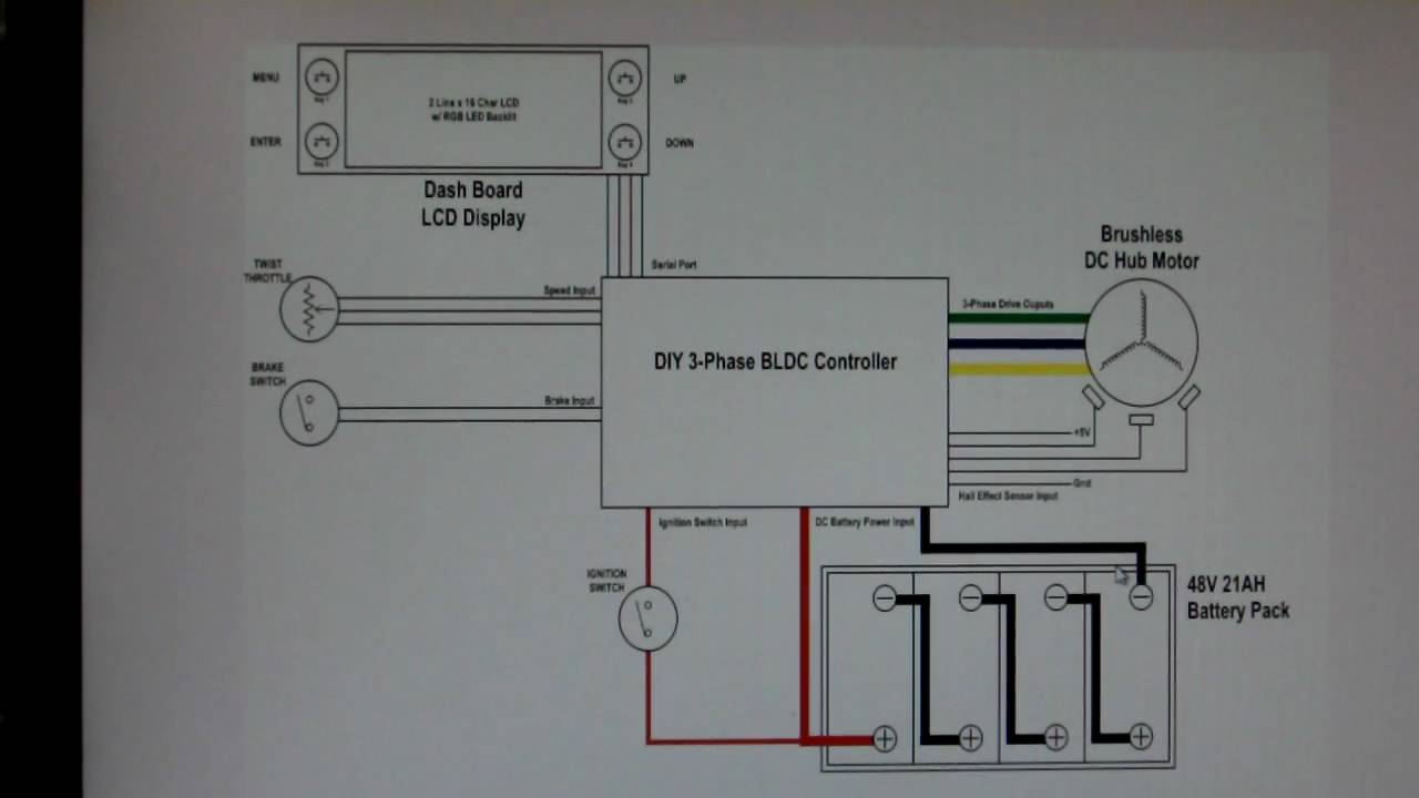 Home-made Bldc Hub Motor Controller Project-ev Wiring Diagram Schematic