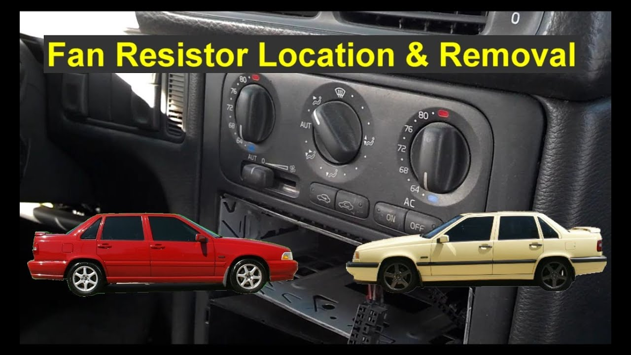 Fan motor only works on high resistor location and for Volvo 850 blower motor