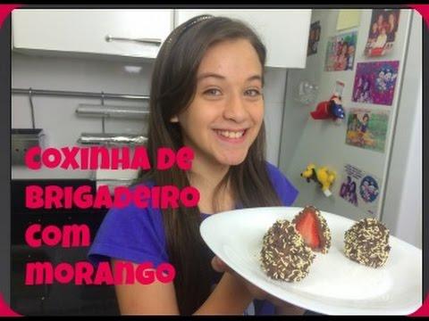 COXINHA DE BRIGADEIRO COM MORANGO