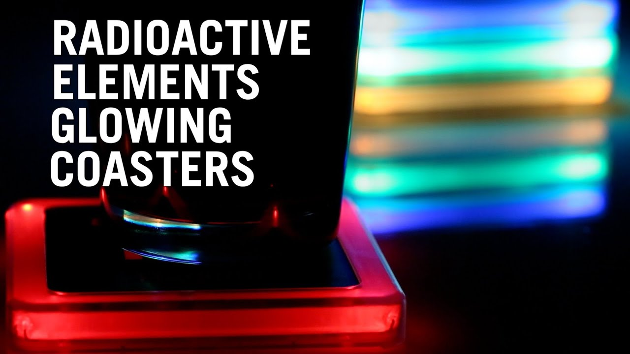 Radioactive Elements Glowing Coaster Set From Thinkgeek