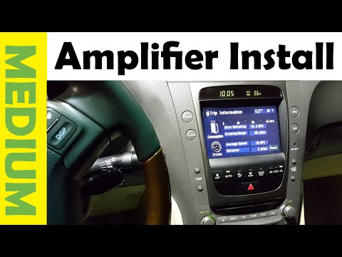 How To Install Amp & Subwoofer in a Lexus or Any Car The Simple Way!