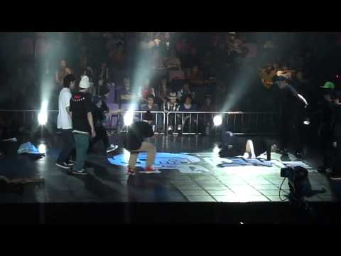 BBOY PHYSICX MOUSE TINO ROCK 2TOUCH NAUTY1 VS CHINA TEAM @ Keep on Dancing KOD HD bboy battle
