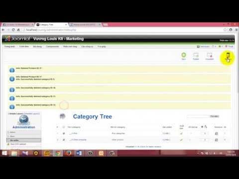 Hướng dẫn  thực hành thương mại điện tử với Joomla