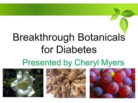 Breakthrough Botanical For Diabetes Presented By Cheryl Myers - 8/23/2016