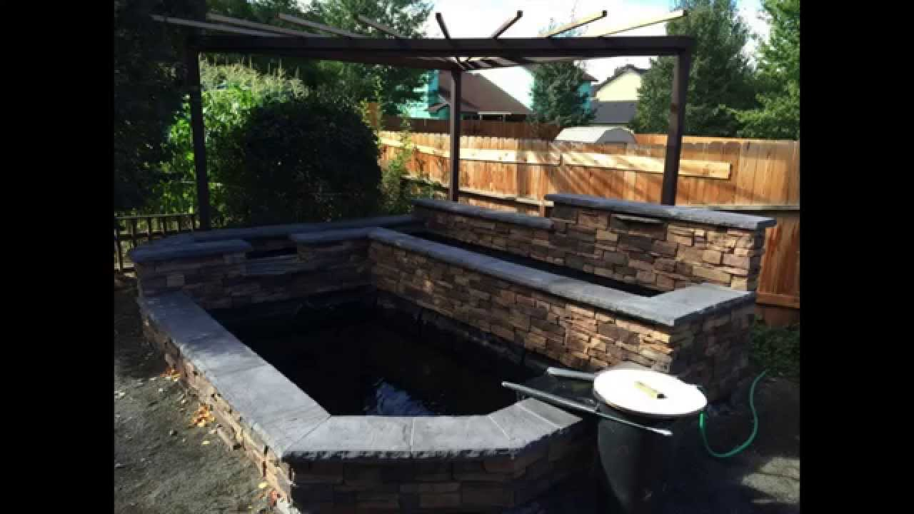 Build your own koi pond diy only 3 000 youtube for Homemade koi pond
