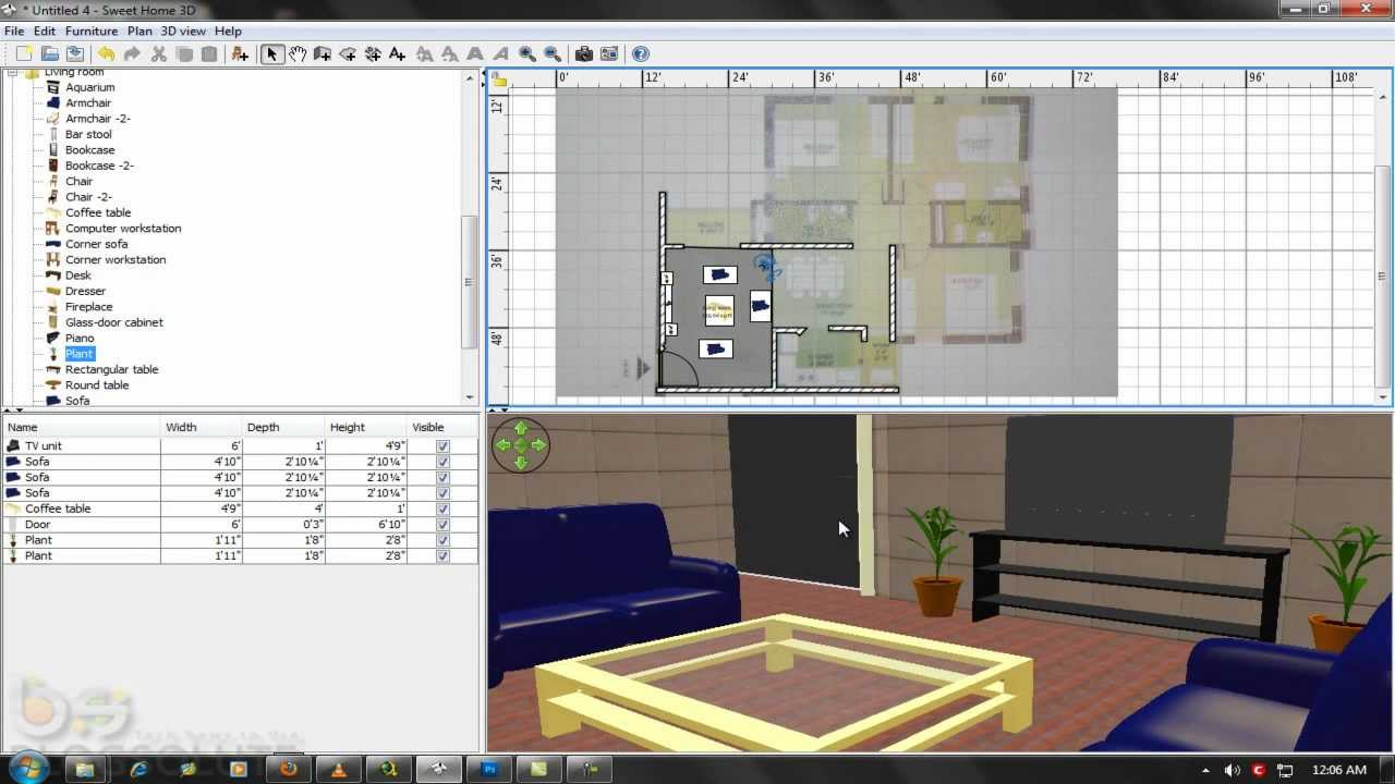 build home and design interiors in 3d sweet home 3d