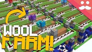 MASSIVE Automatic Wool Farm in Minecraft!