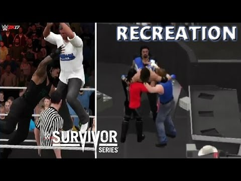 WWE 2K17 RECREATION: TEAM RAW VS TEAM SMACKDOWN   SURVIVOR SERIES 2016 HIGHLIGHTS